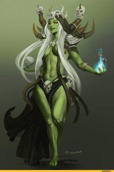 орки,orc girl,Фентези,Tanzenkat,Fantasy,Fantasy art,art,арт,красивые картинки,Warcraft,Игры,r63,Gul'dan