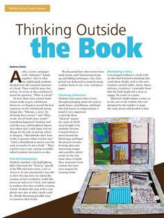 Thinking Outside the Book #MiddleSchool #ArtLesson #ArtEd