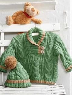 suéter y sombrero de patrón