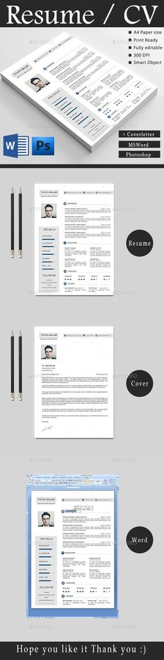 Resume Template PSD #design Download: http://graphicriver.net/item/resume/14490114?ref=ksioks
