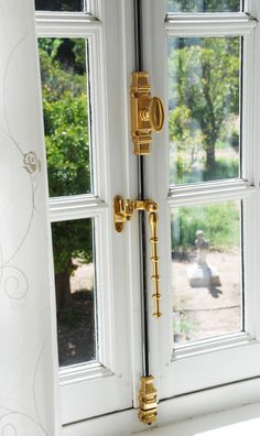 Cremone Bolt for French Doors. Please specify height of doors. Window Stained, House Design, House Styles, French Doors, Home Hardware, Interior Design Living Room, Baldwin Door Hardware, Doors And Hardware, Doors