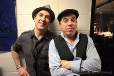 The multi-talented Peter  Apfelbaum and brass master Steven Bernstein - don tour - 2014
