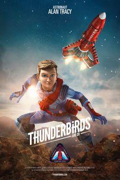 Thunderbirds Are Go, Season 2 – Alan Tracy (voiced by Rasmus Hardiker) ITV Timeless Series, Thunderbirds Are Go, Sci Fi Tv, Cinema, Retro Futuristic, Kids Shows, Classic Tv, I Movie, Comic Art
