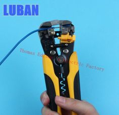 LUBAN HS-D1 AWG24-10 (0.2-6.0mm2 ) design Multifunctional automatic stripping pliers Cable wire Stripping Crimping tools Cutting