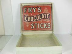 Old Shop Stuff | Old-chocolate-box-Frys-Chocolate-Sticks for sale (14521)