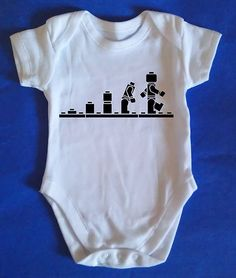 Lego onesie.... so cute would love this on shirts for my boys