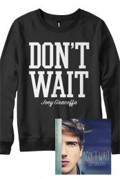 Don't Wait Crewneck Bundle Outerwear - Joey Graceffa Outerwear - Online Store on District Lines Youtuber Merch, Youtubers, Youtube Vines, District Line, Joey Graceffa, Perfect Boyfriend, Greatest Songs, Celebrity Outfits, Clothing Company