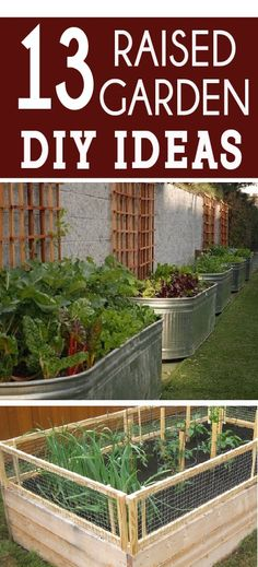 Raised Bed Garden Designs Raised bed gardening can take many forms. Check out 13 different options and then learn how to get started building your own raised garden! The post Raised Bed Garden Designs appeared first on Garden Diy. Garden Types, Garden Care, Raised Bed Garden Design, Home Vegetable Garden, Garden Cottage, Diy Garden Decor, Easy Garden, Diy Garden Box, Garden Planters