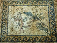 Images in Roman mosaics meant to dispel the envious Mosaic from the so-called 'House of the Evil Eye' in Antioch,  Museum of Hatay Turkey