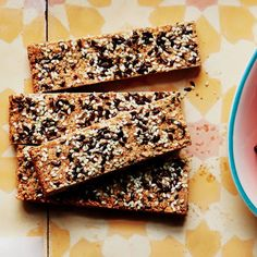 Crunchy Cashew-Sesame Bars #healthy #snack #breakfast