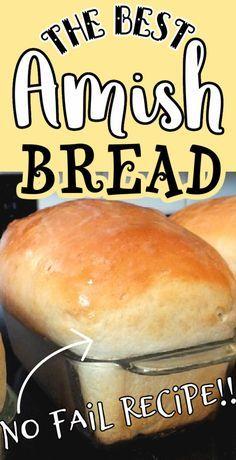 Amish Bread Recipes, Bread Machine Recipes, Best Amish Recipes, Amish Sweet Bread Recipe, Bread Bun, Easy Bread, Milk Bread Recipe, Simple Bread Recipe, Fluffy Bread Recipe