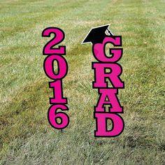 2016+Hot+Pink+Grad+Yard+Sign+-+OrientalTrading.com