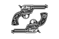 Dos Pistolas by Straw Castle on @creativemarket