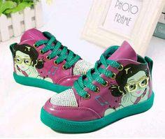 SH043 Sepatu Anak Cewek 3D Face Fushia Hijau Size 27 28 29 30 31 Rp 87.000 (ready)