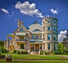 This house was built by a rich resident of Wichita, KS about 100 years ago. It sits on a beautiful location along the Arkansas river and has been beautifully restored into a fine bed and breakfast. It is truly elegant. By JimBoots