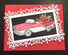 Car Card- a nice masculine idea for the upcoming holiday season. Heartfelt Creations Young at Heart Stamp and Die Creative Expressions - Frosty Frame all available at our website