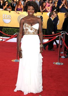 Viola Davis in Marchesa - SAG Awards 2012