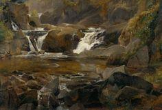 Theodore Rousseau (1812-1867) Torrent end Auvergne et reteune
