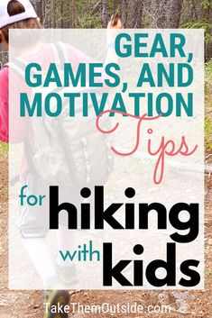 Get top tips for family hiking trips.  You'll learn how hiking gear, hiking snacks, games and distractions, as well as hiking trails all play an important role in the overall success of your adventures on the trail!  #hikingtips #hikinggear
