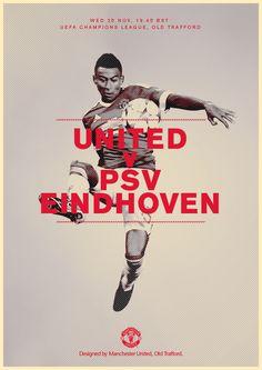 Match poster. Manchester United v PSV Eindhoven, 25 November 2015. Designed by @Manchester United