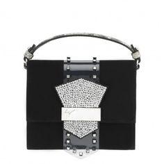 GIUSEPPE ZANOTTI . #giuseppezanotti #bags #clutch #suede #crystal #hand bags #