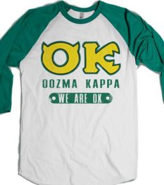 White/Evergreen T-Shirt | Fun Monsters University Shirts