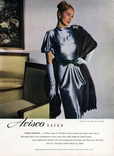 Avisco Rayon / dress by Charles Cooper 1940's