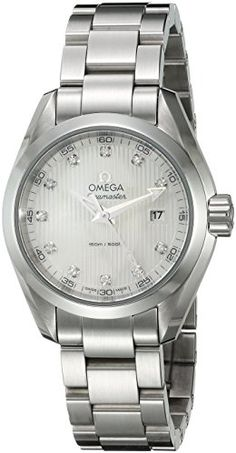 Omega Women's 'Seamaster150' Swiss Quartz Stainless Steel Dress Watch, Color:Silver-Toned (Model: 23110306055001) https://www.carrywatches.com/product/omega-womens-seamaster150-swiss-quartz-stainless-steel-dress-watch-colorsilver-toned-model-23110306055001/ Omega Women's 'Seamaster150' Swiss Quartz Stainless Steel Dress Watch, Color:Silver-Toned (Model: 23110306055001)  #diamondwatchesforwomen #dresswatch More diamond watches : https://www.carrywatches.com/tag/diamond-watches/