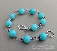 Aventurine and Silver Wrapped Bracelet