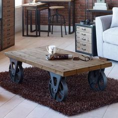 Spitalfields Coffee Table with Wheels | Dunelm