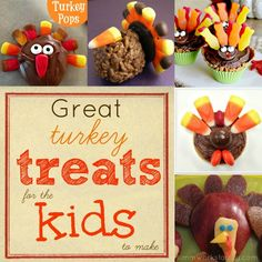 great turkey treats for the kids to make