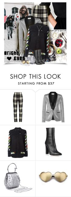 """""""Bright Eyes"""" by eilselrenrag ❤ liked on Polyvore featuring Privé, MaxMara, Yves Saint Laurent, Off-White, Balmain, Wildfox and David Yurman"""