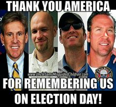 Thank you America! We will never forget you.