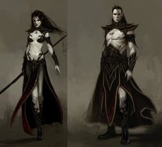 Original Dark Elf Sorcerer and Sorceress