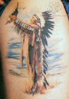 Native American Shoulder Tattoo For Men