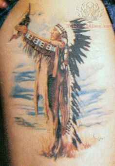 Native American Shoulder Tattoo For Men