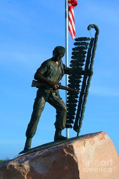 The Native American Vietnam Soldier Memorial ... In Honor Of All Native Americans Who Died In Combat.