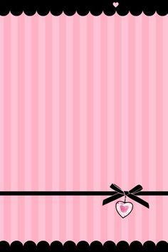 Étiquette rose et noire, nœud et cœur girly.