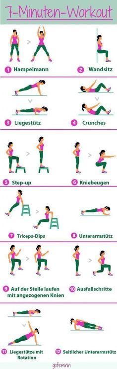 Ein effektives Workout muss nicht lange dauern - wir zeigen euch das 7-Minuten-Workout! Jede Übung wird für 30 Sekunden ausgeführt mit 10 Sekunden Pause für den Positionswechsel. #PsoasRelease