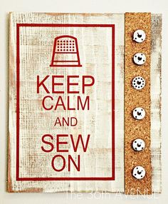 nice board for the sewing room