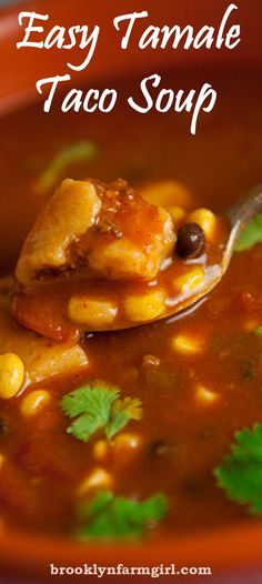 A quick and delicious taco soup to make on a busy night.
