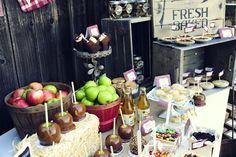 Insanely cute fall party...apple theme