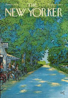 New Yorker Magazine Original Cover - Rent to Ride - June 21, 1976