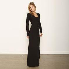 #Black long #gown maxi #Dress