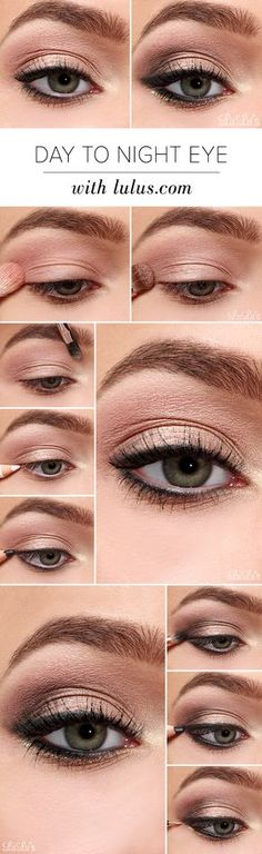 Eye Makeup Tips and Advice Eyes occupy the most prominent place among the five sensory organs of our body. Large and beautiful eyes enhance one's beauty manifold. Healthy eyes are directly related to general health. Use eye-make up v Makeup Goals, Love Makeup, Makeup Inspo, Makeup Inspiration, Makeup Ideas, Eye Makeup Tutorials, Prom Makeup Tutorial, Makeup Tricks, Simple Eyeliner Tutorial
