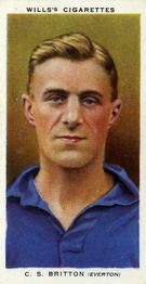1935-36 W.D. & H.O. Wills Association Footballers #6 Cliff Britton  Front