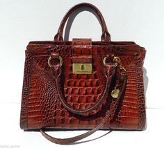 NEW Genuine Brahmin Toasted Almond Tri-Texture Collection Melbourne Tote Handbag #Brahmin #ToteBag