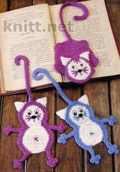 Вязаные крючком Коты-закладки, вязание из остатков пряжи, вязание крючком, связать закладку, закладка крючком, игрушка крючком, для детей, вязаная детская игрушка