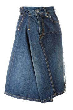 Junya Watanabe Comme Des Garcons draped A-line denim skirt A Line Denim Skirt, Blue Denim Skirt, A Line Skirts, Denim Skirts, Denim Ideas, Denim Trends, Estilo Jeans, Denim Fashion, Womens Fashion