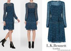 LK Bennett Bryony Evergreen Silk Dress